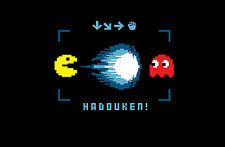 Incorniciato stampa-STREET FIGHTER Pac-Man haduken (videogame PICTURE POSTER OLD SCHOOL)
