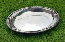 Antique vintage silver plate oval serving bowl dish dinner party piece
