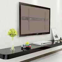 "32""-70"" Universal Ultra Slim Low Profile Fixed TV Wall Mount Hanger Load 110Lbs"