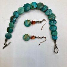Earring Set Turquoise Bracelet &