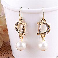 perle et cristal boucles d'oreilles pendantes multiple choix