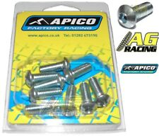 Apico 10mm Button Head Allen Bolt M6x16mm 10 Pack Motocross Enduro Carbon Steel