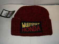 WULFSPORT HONDA WOOLLY HAT RED OFFICIAL WULFSPORT 100% ACRYLIC