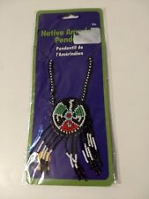 Native American Indian Pendant Beaded Fringe Necklace Costume Jewelry Rubie's