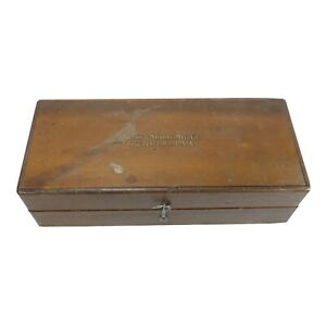 Vintage Brown & Sharpe MFG Co Wooden Box Tool Kit Set HTF Rare