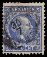 """NETHERLANDS INDIES 12i (Mi12i) - King Wilhem III """"P12.5x12.5"""" (pa31703)"""