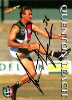 ✺Signed✺ 1995 FREMANTLE DOCKERS AFL Card QUENTON LEACH