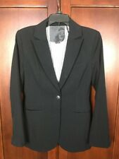 Guess Los Angeles Black Blazer Jacket Womens Sz Small Polyester Blend 1 Button
