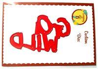GO WILD WORD Mini Metal Die - Scrapbook Stamping Cardmaking Crafts