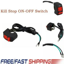 7/8'' Motorcycle Kill Stop ON-OFF Switch Button Handlebar Mount Bullet Connector