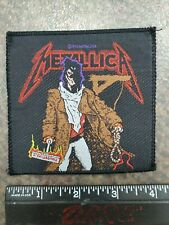 METALLICA VINTAGE CONCERT TOUR JACKET LOGO PATCH (80S HAIR HEAVY METAL T-SHIRT
