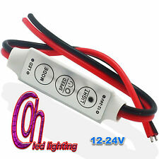 12V Mini Tira de Luz LED Dimmer Controlador en Off interruptor de 3528 5050 5630