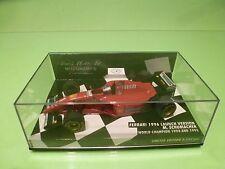 MINICHAMPS FERRARI 1996 LAUNCH VERSION - F1  RED M.SCHUMACHER - EXCELLENT IN BOX