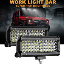 2x7inch 400W Offroad Led Light Bar Spot Beam TRUCK 4WD SUV ATV Driving Fog Lamp