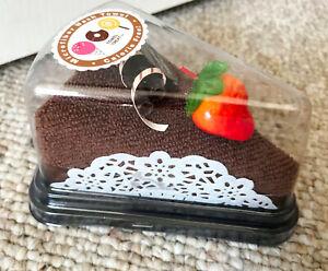Towel Treat Microfiber Terry Cloth Hand Face Wash Cake Strawberry Chocolate