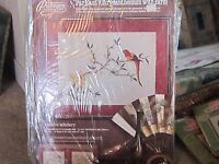 NEW NOS Far East Chrysanthemum with Bird embroidery craft kit Paragon stitchery