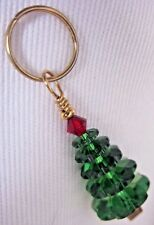 Tannenbaum Christmas TREE Green Red Sparkling Crystal Bead Charm KIRSTEN USA