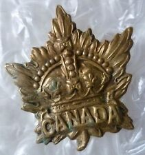 Badge- Canadian Army Division/ Canada Corps CEF Cap Badge, Brass (Genuine*)