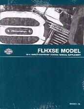 2016 Harley FLHXSE CVO Street Glide Service Repair Shop Manual Supplement 600-16