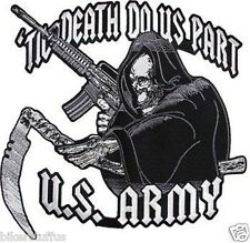ARMY TILL DEATH DO US PART US ARMY BUMPER STICKER TOOLBOX STICKER