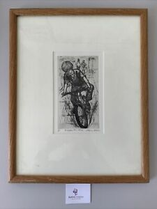 """Mary Cossey Limited Edition Drawing Framed """"The Beggar New Bike"""" #6358"""