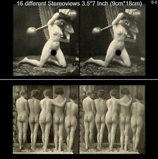 16 artful Stereoviews french Nude 1910 France - Paris ( Lot 5)