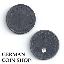 1 Reichspfennig Zinc 1940 1941 1942 1943 1944 1945 A B D E F G J - Third Reich