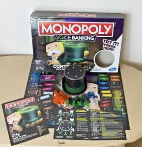 Hasbro Monopoly Voice Banking Electronic Board Game 2018 # E4816 100% Complete