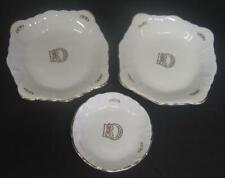 Lot of 3 vintage Daughters of Rebekah Dresser Trinket, Jewelry Trays bowls gold
