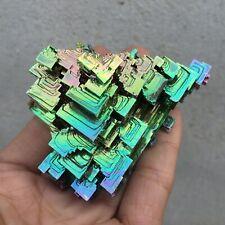 top!Quartz Crystal Rainbow Titanium Bismuth Specimen Cluster Mineral Healing