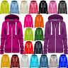 Ladies Hoodie Sweatshirt Zip Plain Jacket Hooded Womens Jumper Fleece Coat Top