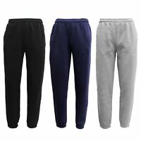 Men's Soft Fleece Lined Sweat Track Pants w/ Elastic Hem Casual Sports Trackies