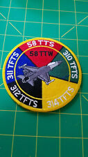 USAF 58 TTW Tactical Training Wing Squadron Patch 58 TTS 310 311 312 314 TFTS