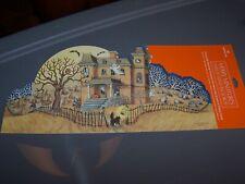 Hallmark 1993 Merry Miniatures Display Stand Halloween Backdrop.
