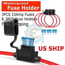 Sound Quest Water Resistant Inline 0 4 Gauge AWG Power Wire ANL Fuseholder