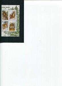 2000 WWF BELARUS European Lynx 4v set MNH POST-FREE