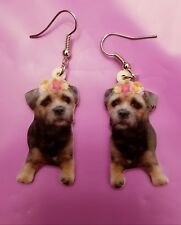 Border Terrier Dog lightweight fun earrings jewelry Free Shipping! Valentine's