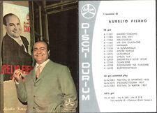 CARTOLINA VINTAGE CANTANTI AURELIO FIERRO - DISCHI DURIUM