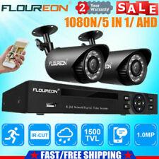 CCTV System 5IN1 1080N 4CH DVR 1500TVL Outdoor Security Camera Night Vision IP66