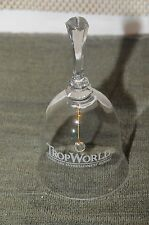 Vintage TropWorld Casino & Resort  Etched Crystal Bell    Rare Find !