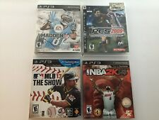 PS3 Sports Lot #4 (NBA2k12, Madden 13, MLB The Show 13, PES 2009)