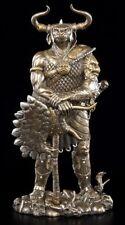 Minotaurus Figur - Statue Deko Mythologie Stierkopf Mann bronziert