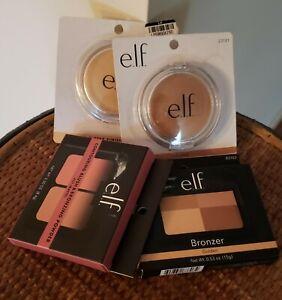 New 4pc Bundle e.l.f Makeup Finishing Powder, Bronzers, Blush