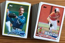 1989 Topps - Pick any 30 Cards to Complete Your Set - Stars - Rookies RC