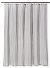 Threshold Cashmere Gray Woven Striped Dyed Shower Curtain 72x72 Nwot