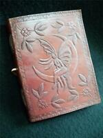 Moon Fairy - A5 Pagan Wicca Journal Diary Book of Shadows - Handmade in Leather