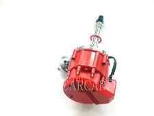 Fit Chevy SBC 350 BBC 454 65K Coil HEI Electronic Distributor - Red BIG Cap FD