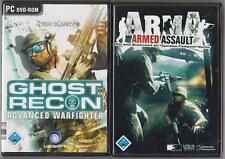 Arma ARMED ASSAULT + Ghost Recon Advanced Warfighter Shooter raccolta giochi pc