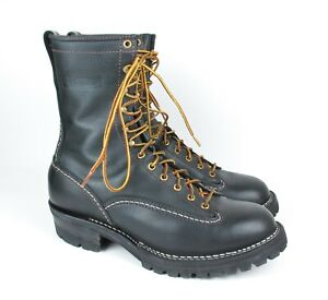 Mint Wesco 1210 Black Leather Boots 11 D USA
