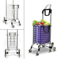 35L Stair Climbing Cart 8 Wheels,Handle Grocery Laundry Utility Shopping Cart Us